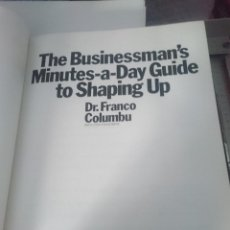Coleccionismo deportivo: FRANCO COLUMBU -- THE BUSINESSMAN´S MINUTE-A-DAY GUIDE TO SHAPING UP - LIBRO CULTURISMO. Lote 209155475