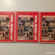 Coleccionismo deportivo: 3 TOMOS DE RARA ENCICLOPEDIA DE DEPORTES DEL NEW YORK TIMES REALIZADA CON RECORTES DEL PERIODICO. Lote 209193906
