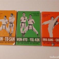 Coleccionismo deportivo: LOTE DE 3 LIBROS DE TAEKWONDO (EN INGLÉS) - JHOON RHEE. Lote 209194748
