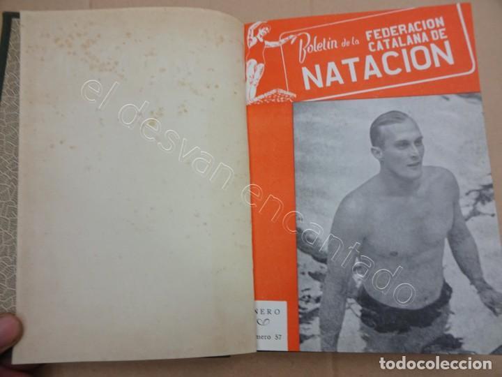 FEDERACION CATALANA DE NATACION. BOLETIN AÑO 1949 EN UN TOMO. (Coleccionismo Deportivo - Libros de Deportes - Otros)
