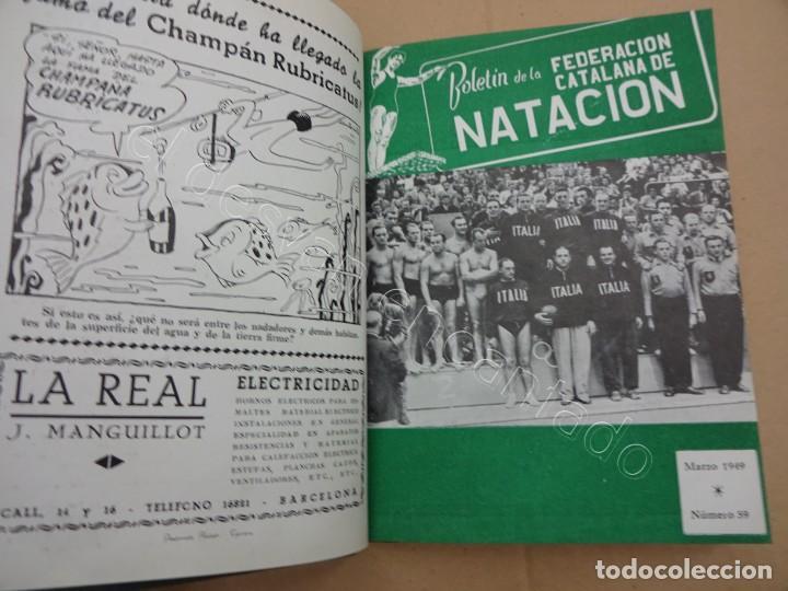 Coleccionismo deportivo: FEDERACION CATALANA DE NATACION. Boletin año 1949 en un tomo. - Foto 2 - 209694455