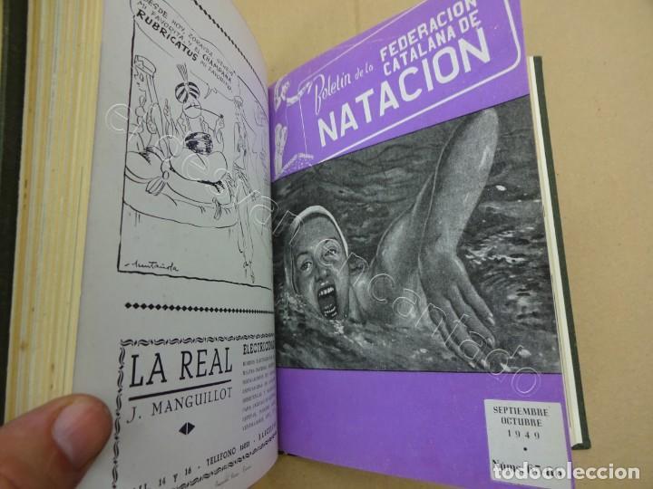 Coleccionismo deportivo: FEDERACION CATALANA DE NATACION. Boletin año 1949 en un tomo. - Foto 4 - 209694455