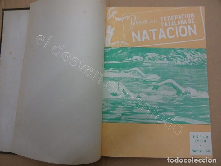 FEDERACION CATALANA DE NATACION. BOLETIN AÑO 1950 EN UN TOMO. (Coleccionismo Deportivo - Libros de Deportes - Otros)