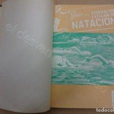 Coleccionismo deportivo: FEDERACION CATALANA DE NATACION. BOLETIN AÑO 1950 EN UN TOMO.. Lote 209694586