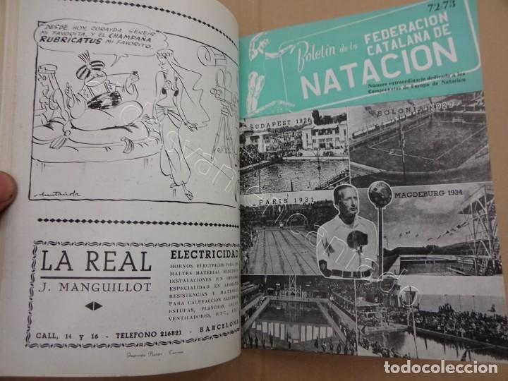 Coleccionismo deportivo: FEDERACION CATALANA DE NATACION. Boletin año 1950 en un tomo. - Foto 2 - 209694586