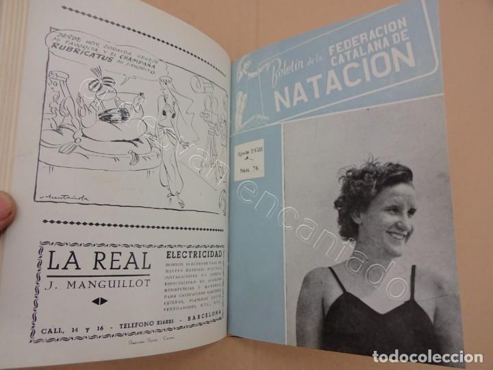 Coleccionismo deportivo: FEDERACION CATALANA DE NATACION. Boletin año 1950 en un tomo. - Foto 3 - 209694586