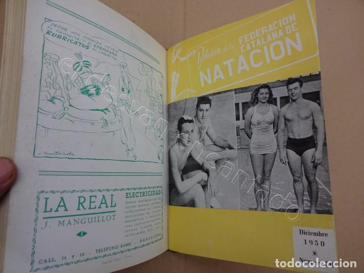Coleccionismo deportivo: FEDERACION CATALANA DE NATACION. Boletin año 1950 en un tomo. - Foto 4 - 209694586