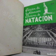 Coleccionismo deportivo: FEDERACION CATALANA DE NATACION. BOLETIN AÑO 1948 EN UN TOMO. 12 REVISTAS. Lote 210022101