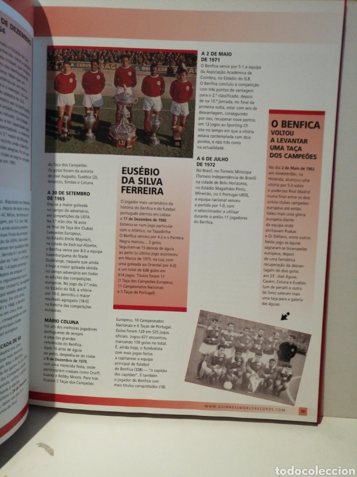 Coleccionismo deportivo: GUINNESS WORLD RECORDS Deportes EDICION ESPECIAL BENFICA - Foto 3 - 211652881