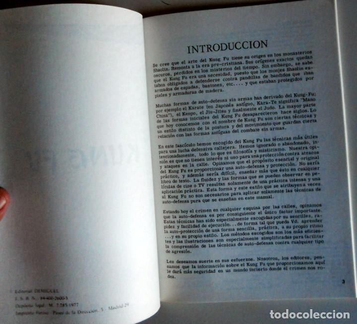 Coleccionismo deportivo: LIBRO de KUNG-FÚ - ARTES MARCIALES - KÁRATE - EXPLICACIÓN LLAVES - EDITORIAL DEMIGUEL Año 1977 - Foto 2 - 211702938