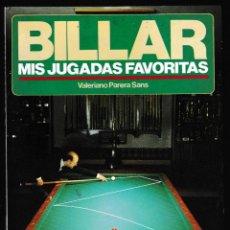 Coleccionismo deportivo: BILLAR MIS JUGADAS FAVORITAS - VALERIANO PARERA - 323 ILUSTRACIONES - HISPANO EUROPEA 1990. Lote 211850928