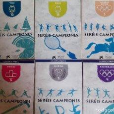 Coleccionismo deportivo: 6 LIBROS DEPORTIVO SERÉIS CAMPEONES DEPORTES OLÍMPICOS NÚMEROS 4 5 7 12 17 Y 18. Lote 211976403