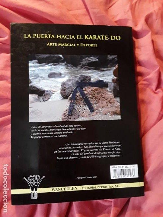 Coleccionismo deportivo: La puerta hacia el karate - do (Arte marcial y deporte), de Victor Lopez. Excelente estado. Escaso. - Foto 2 - 211668409