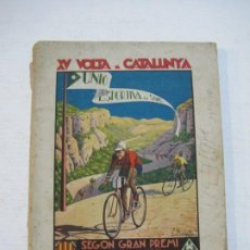 Coleccionismo deportivo: CICLISMO-XV VOLTA CATALUNYA-UNIO SPORTIVA SANS-PROGRAMA ANY 1933-VER FOTOS-(V-21.516). Lote 212640482