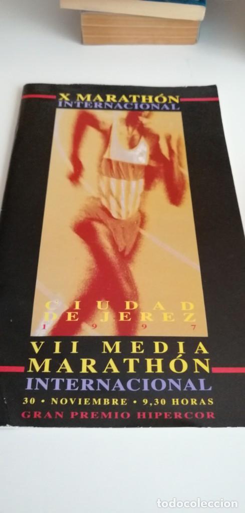 G-23 LIBRO X MARATHON INTERNACIONAL CIUDAD DE JEREZ MARATON 1997 (Coleccionismo Deportivo - Libros de Deportes - Otros)