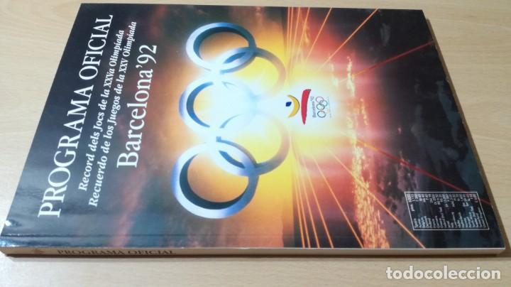 PROGRAMA OFICIAL OLIMPIADA BARCELONA 92 G603 (Coleccionismo Deportivo - Libros de Deportes - Otros)