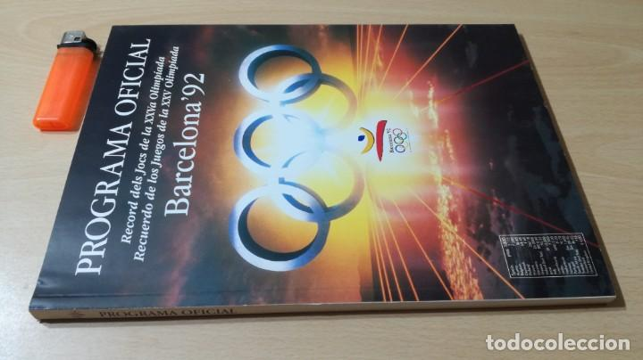 Coleccionismo deportivo: PROGRAMA OFICIAL OLIMPIADA BARCELONA 92 G603 - Foto 2 - 215479721