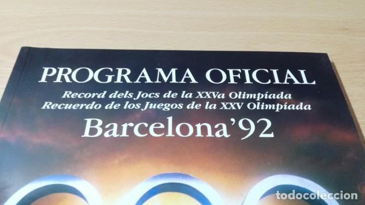 Coleccionismo deportivo: PROGRAMA OFICIAL OLIMPIADA BARCELONA 92 G603 - Foto 4 - 215479721