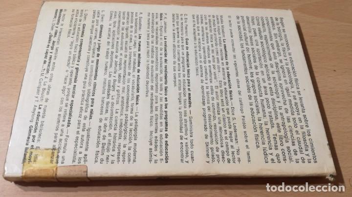 Coleccionismo deportivo: FUNDAMENTOS SOCIALES DE LA EDUCACION FISICA - PAIDOS - CELESTE ULRICH K204 - Foto 2 - 215480096