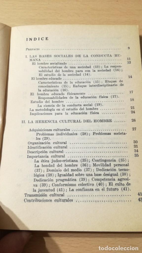 Coleccionismo deportivo: FUNDAMENTOS SOCIALES DE LA EDUCACION FISICA - PAIDOS - CELESTE ULRICH K204 - Foto 7 - 215480096