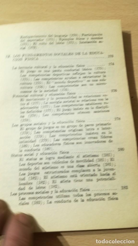 Coleccionismo deportivo: FUNDAMENTOS SOCIALES DE LA EDUCACION FISICA - PAIDOS - CELESTE ULRICH K204 - Foto 11 - 215480096