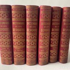 Coleccionismo deportivo: DICCIONARIO DE LOS DEPORTES, ACISCLO KARAG. ED. JOVER 6 TOMOS. 1964. 1ª EDICION.. Lote 216580812