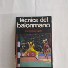 Coleccionismo deportivo: TÉCNICA DEL BALONMANO. HISPANO EUROPEA.. Lote 217513317