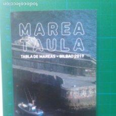 Coleccionismo deportivo: MAREA TAULA - TABLA DE MAREAS - BILBAO 2019 - KUTXABANK. Lote 217541246