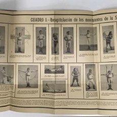 Coleccionismo deportivo: LA GIMNASIA PARA TODOS DEPORTE JOSÉ RUIZ EDITOR L. G. KUMLIEN 3 LÁMINAS ESPECTACULARES. Lote 217802057