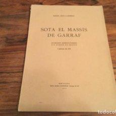 Collezionismo sportivo: ESPELEOLOGIA SOTA EL MASSÍS DEL GARRAF. EXCURSIONS ESPELEOLÒGIQUES ALS AVENCS DE BEGUES. R AMAT 1924. Lote 218222067