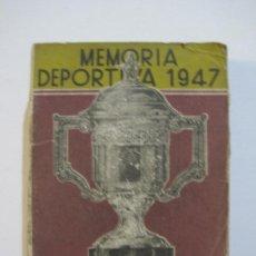 Coleccionismo deportivo: GALGOS-FEDERACION ESPAÑOLA GALGUERA-MEMORIA DEPORTIVA 1947-VER FOTOS(V-22.288). Lote 219895066