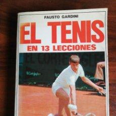Coleccionismo deportivo: EL TENIS EN 13 LECCIONES. FAUSTO GARDINI.. Lote 221917668