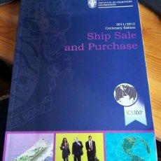 Coleccionismo deportivo: SHIP SALE AND PURCHASE 2011-12. Lote 222426718