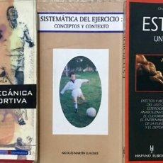 Colecionismo desportivo: 3 LIBROS DEPORTE - BIOMECÁNICA DEPORTIVA ESTEROIDES UN JUEGO PELIGROSO ACTIVIDAD FISICA EJERCICIO. Lote 224398040