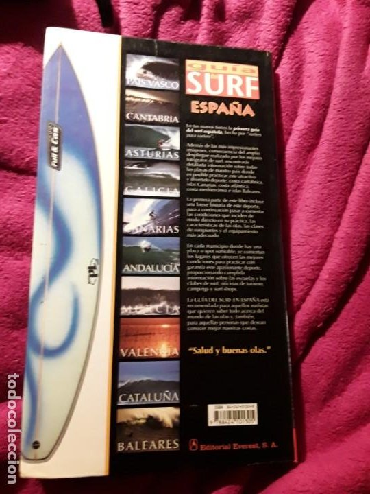Coleccionismo deportivo: Guia del surf en España, de Jose Pellón. Everest, 2000. Descatalogado. Raro. Surfing - Foto 3 - 230217825