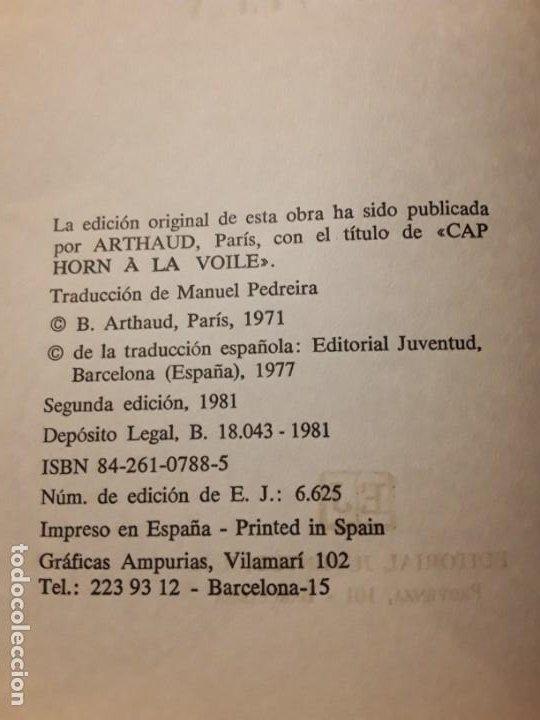Coleccionismo deportivo: Cabo de hornos a la vela, de Bernard Moitessier. Juventud, tapa dura. Navegación - Foto 6 - 230916050
