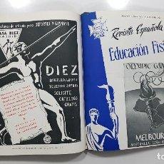 Coleccionismo deportivo: 1956 AÑO COMPLETO REVISTA ESPAÑOLA DE EDUCACIÓN FÍSICA COLEGIO NACCIONAL PROFESORES E.F.. Lote 233036660
