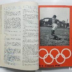 Coleccionismo deportivo: REVISTA ESPAÑOLA DE EDUCACIÓN FÍSICA 1949-1950 AÑO COMPLETO. NÚMEROS 1-16. Lote 233055765