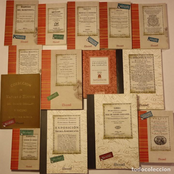 14 LIBROS FACSÍMILES RELATIVOS A LA HÍPICA (1572-1928). CABALLOS HIERROS DOMA EQUITACIÓN HERRADURAS (Coleccionismo Deportivo - Libros de Deportes - Otros)