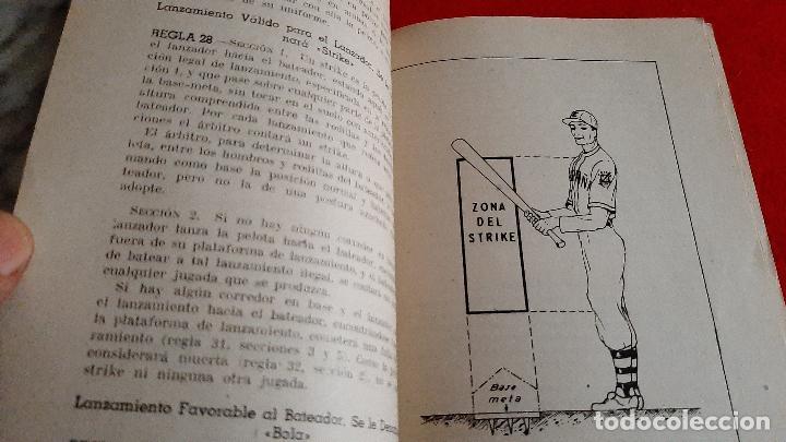 Coleccionismo deportivo: LIBRO FOLLETO FEDERACION ESPAÑOLA DE PELOTA BASE BEISBOL 1950 BASE BALL REGLAMENTO ORIGINAL - Foto 4 - 236203925