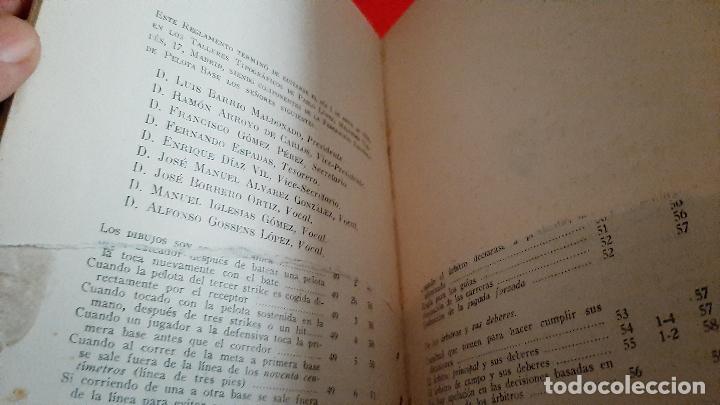 Coleccionismo deportivo: LIBRO FOLLETO FEDERACION ESPAÑOLA DE PELOTA BASE BEISBOL 1950 BASE BALL REGLAMENTO ORIGINAL - Foto 7 - 236203925