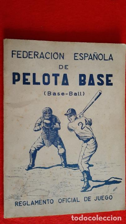 LIBRO FOLLETO FEDERACION ESPAÑOLA DE PELOTA BASE BEISBOL 1950 BASE BALL REGLAMENTO ORIGINAL (Coleccionismo Deportivo - Libros de Deportes - Otros)