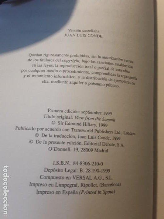 Coleccionismo deportivo: Una visión desde la cumbre, de Sir Edmund Hillary. Montañismo, alpinismo, everest. Excelente estado - Foto 3 - 236830000