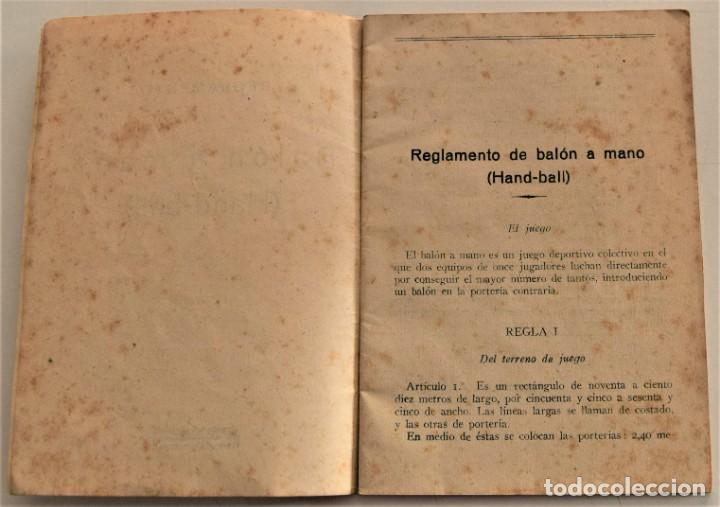 Coleccionismo deportivo: BALÓN A MANO (HAND-BALL) REGLAS DE JUEGO, EDICIONES DEPORTIVAS EFS - CUÑO FRENTE JUVENTUDES VALENCIA - Foto 4 - 237801755