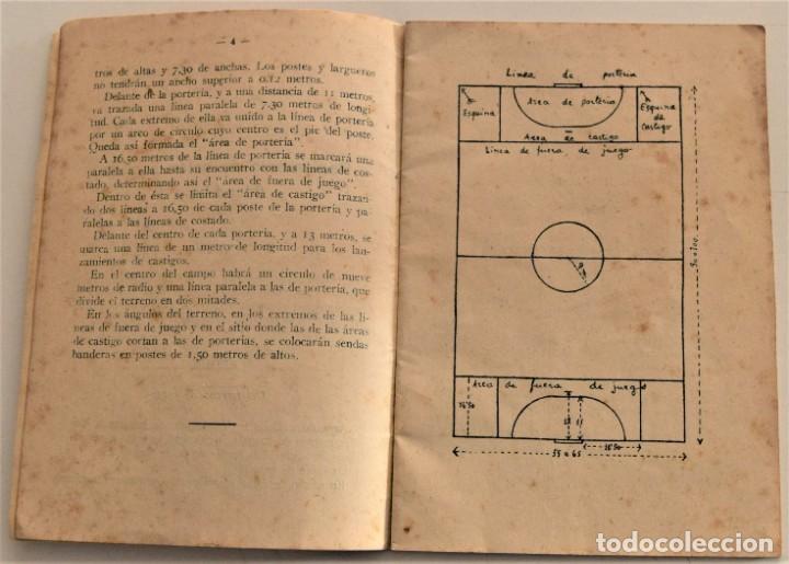 Coleccionismo deportivo: BALÓN A MANO (HAND-BALL) REGLAS DE JUEGO, EDICIONES DEPORTIVAS EFS - CUÑO FRENTE JUVENTUDES VALENCIA - Foto 5 - 237801755