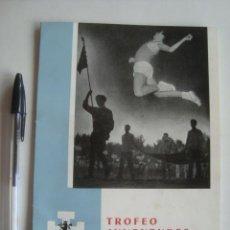 Coleccionismo deportivo: TROFEO DE JUVENTUDES DE ATLETISMO DE LÉRIDA 1958-1962 (LLEIDA, 1963). OJE. Lote 243538380