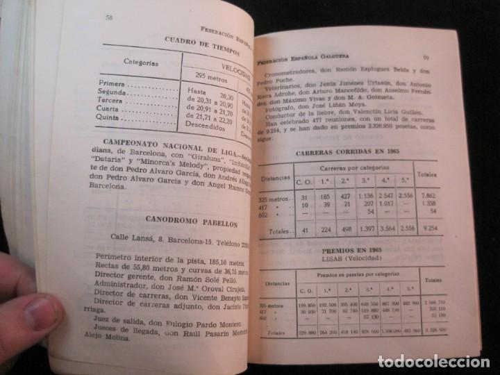 Coleccionismo deportivo: GALGOS-FEDERACION ESPAÑOLA GALGUERA-MEMORIA DEPORTIVA 1965-VER FOTOS-(K-2084) - Foto 17 - 248306145