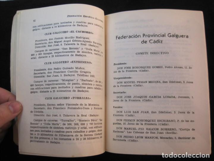 Coleccionismo deportivo: GALGOS-FEDERACION ESPAÑOLA GALGUERA-MEMORIA DEPORTIVA 1965-VER FOTOS-(K-2084) - Foto 19 - 248306145