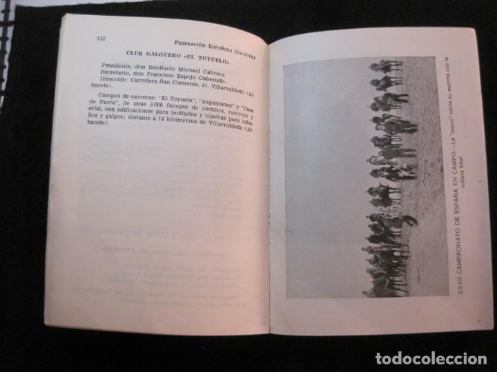 Coleccionismo deportivo: GALGOS-FEDERACION ESPAÑOLA GALGUERA-MEMORIA DEPORTIVA 1965-VER FOTOS-(K-2084) - Foto 22 - 248306145