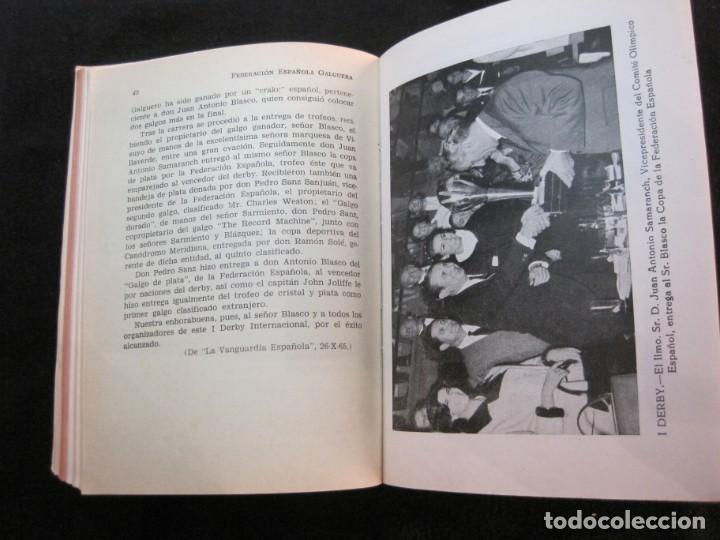 Coleccionismo deportivo: GALGOS-FEDERACION ESPAÑOLA GALGUERA-MEMORIA DEPORTIVA 1965-VER FOTOS-(K-2084) - Foto 32 - 248306145